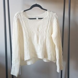 Forever 21 Braided Creme Sweater Size L